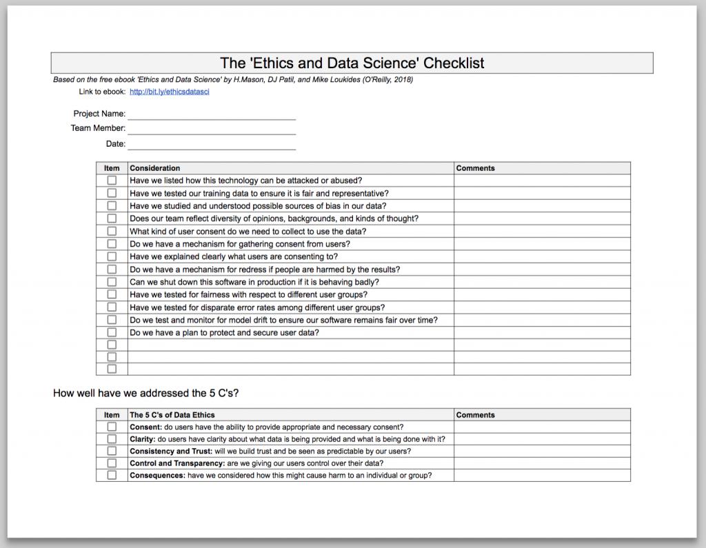 dataethicschecklist